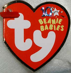 Ty Beanie Babies 11th Generation Heart Tag