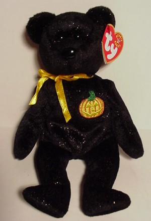 TY HAUNT the HALLOWEEN BEAR BEANIE BABY MINT with MINT TAG