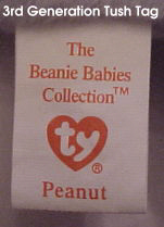 Ty Beanie Babies: 3rd Generation Tush Tag