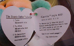 Ty Beanie Babies Fourth Generation Heart Tag: Inside of Tag