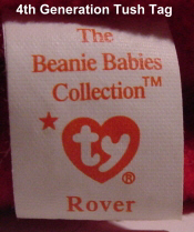 Ty Beanie Babies: 4th Generation Tush Tag