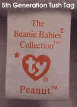 Ty Beanie Babies: 5th Generation Tush Tag